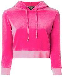 Juicy Couture Jersey de terciopelo con capucha - Rosa