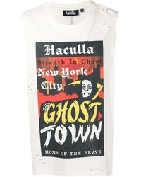 Haculla Ghost Town Sleeveless T-shirt - White