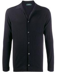 Zanone Flexwool Knitted Shirt - Blue