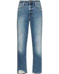 FRAME Straight Jeans - Blauw