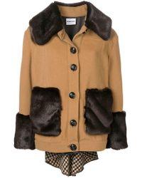 Au Jour Le Jour - Faux Fur Trim Jacket - Lyst