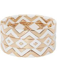 Roxanne Assoulin Puzzled Set Of Three Bracelets - White