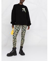 Palm Angels ロゴ スウェットシャツ - ブラック