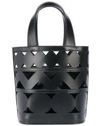 Casadei Perforated Bucket Bag - Black