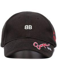 Balenciaga Bb Europe Embroidered Cap - Zwart