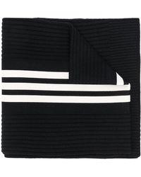 Y-3 Logo Stripe Scarf - Black