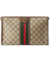 Gucci Ophidia GG Toiletry Case - Brown