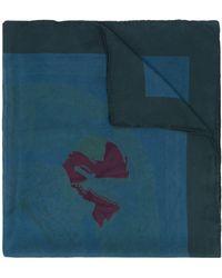 Hermès Pre-owned Sjaal Met Abstracte Print - Blauw