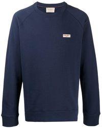 Nudie Jeans パッチ スウェットシャツ - ブルー
