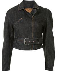 McQ Belted-waist Denim Jacket - Blue