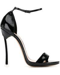 Casadei Ankle Strap Stiletto Sandals - Black