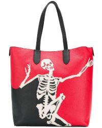 Alexander McQueen - Dancing Skeleton Tote - Lyst
