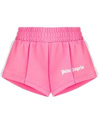 Palm Angels Cropped Track Shorts - Pink