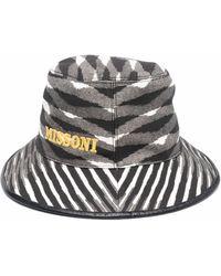 Missoni ロゴ サンハット - ブラック