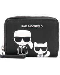 Karl Lagerfeld K/ikonik Portemonnee - Zwart
