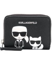 Karl Lagerfeld K/ikonik Small Zip Wallet - Black