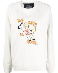 Marc Jacobs グラフィック スウェットシャツ - ホワイト