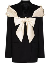 Simone Rocha Oversized-bow Blazer Jacket - Black