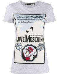Love Moschino Printed T-shirt - Gray