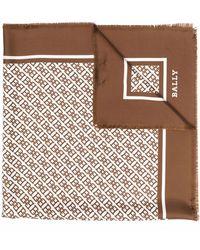 Bally Schal aus Seide - Braun