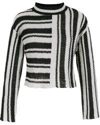 Osklen Striped Knitted Sweater - Black