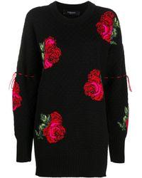 Versace Джемпер С Цветочным Узором - Черный