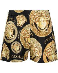 Versace Пижамные Шорты С Принтом Medusa - Черный