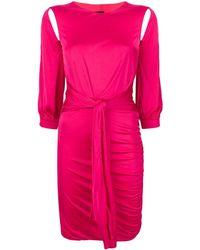 Pinko ベルテッド ドレス - ピンク