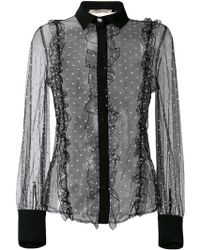 Piccione.piccione - Lace Embroidered Blouse - Lyst