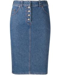 Dior 1990s デニムスカート - ブルー