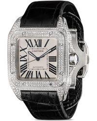 Cartier Pre-owned Santos 100 Xl Horloge - Zwart