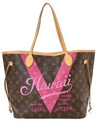 Louis Vuitton Сумка-тоут Hawaii Neverfull Mm Pre-owned Ограниченной Серии - Коричневый