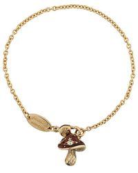 Vivienne Westwood Mushroom Chain Bracelet - Metallic