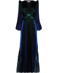 Givenchy パフスリーブ ドレス - ブルー