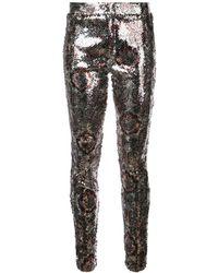 Isabel Marant Sequin Pattern leggings - Metallic