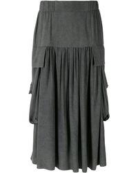 UMA   Raquel Davidowicz Denzel Midi Skirt - Grey