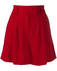 Styland High-waisted pleated shorts - Rot