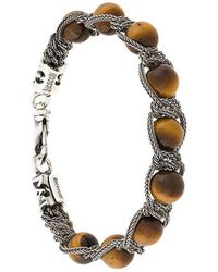 Emanuele Bicocchi - Bead And Chain Bracelet - Lyst