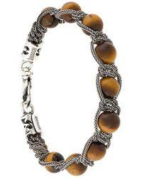 Emanuele Bicocchi - Bead And Chain Bracelet - Lyst