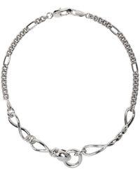 CAPSULE ELEVEN Halskette im Schlangendesign - Mettallic