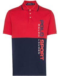 Polo Ralph Lauren Zweifarbiges Poloshirt - Rot