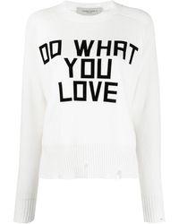 Golden Goose Deluxe Brand Джемпер Do What You Love - Белый