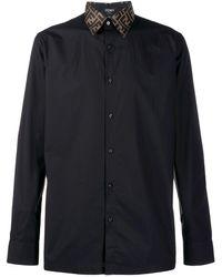 Fendi Рубашка С Монограммой - Черный