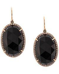 Irene Neuwirth 18kt Rose Gold Onyx Drop Earrings - Black