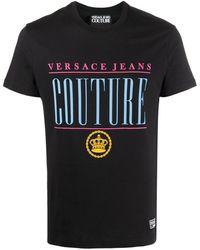Versace Jeans Couture Футболка С Логотипом - Черный