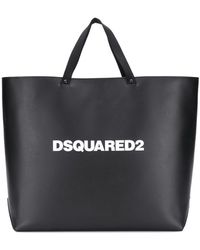 DSquared² Logo Tote Bag - Black