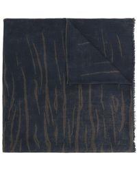Ferragamo - Tiger Stripe Print Oblong Scarf - Lyst