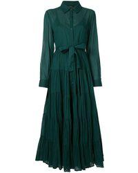 Mes Demoiselles フレア シャツドレス - グリーン