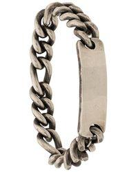 Werkstatt:münchen Chain Plaque Bracelet - Metallic
