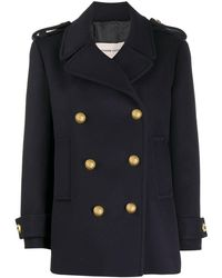 Alexandre Vauthier Double-breasted Coat - ブルー